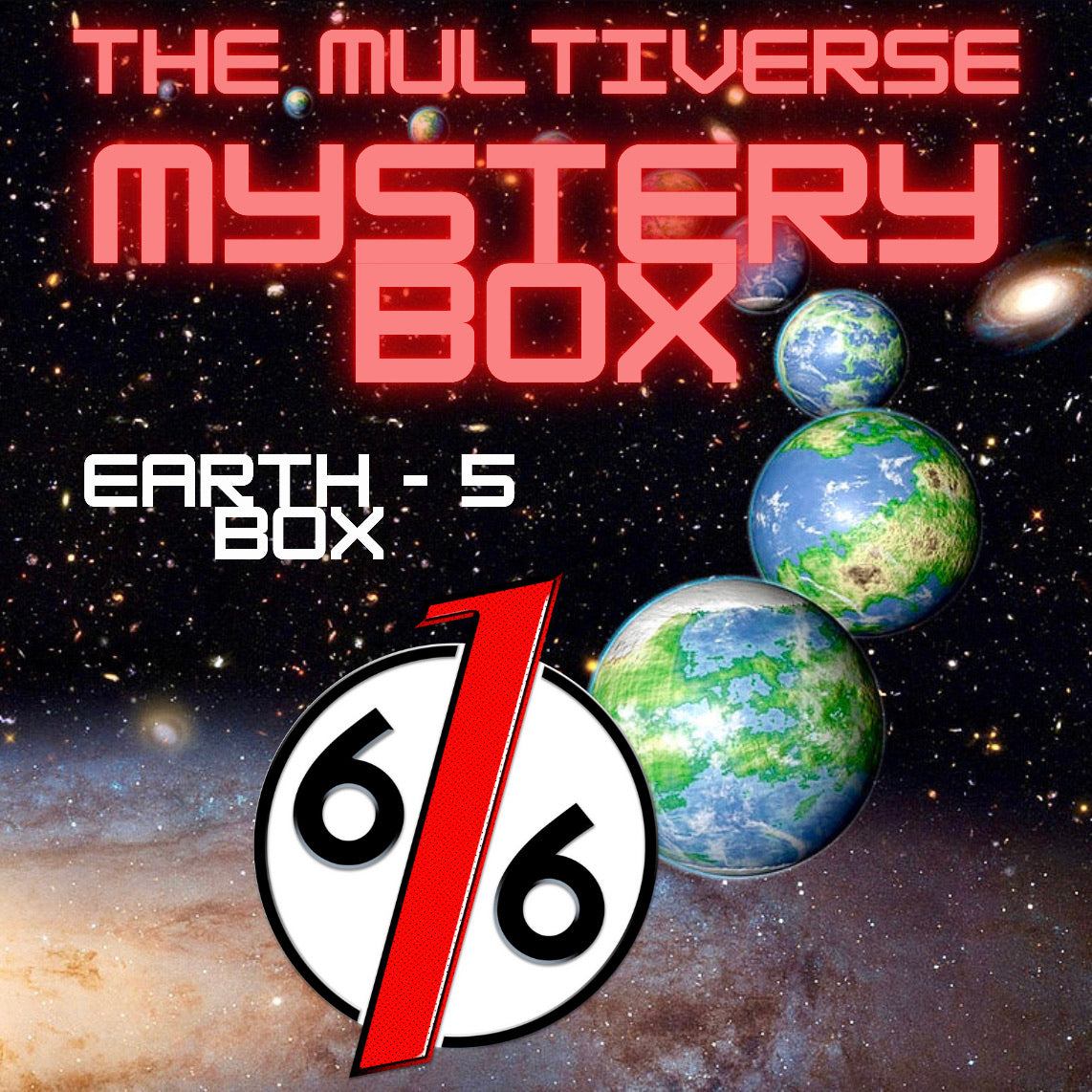 MULTIVERSE MYSTERY BOX - EARTH 5 BOX - 2 Exclusive Variants / 5 Comics Total!