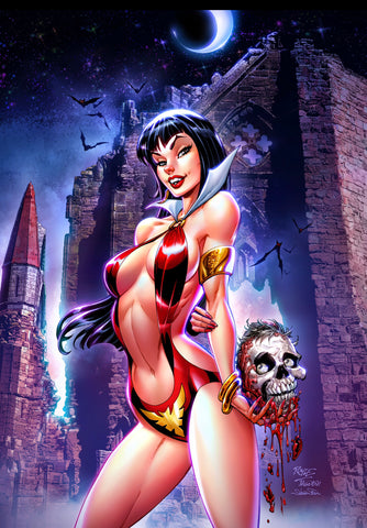 "VAMPIRELLA #16 JOHN ROYLE Exclusive Virgin ""Castle"" Variant Ltd 500 COA"