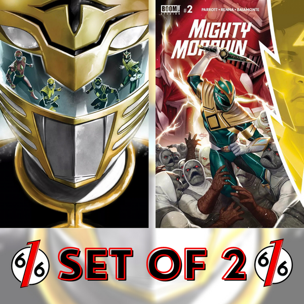 🚨💥 MIGHTY MORPHIN #2 SET OF 2 GALINDO Exclusive Variant & InHyuk Lee Main Cvr
