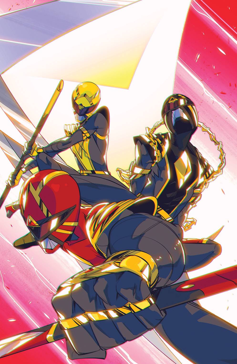 POWER RANGERS #1 1:50 Daniele Di Nicuolo Ratio Incentive Variant