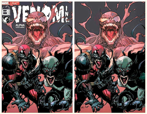 VENOM INC ALPHA #1 LEINIL FRANCIS YU Variant Set Of 2 Virgin Ltd 1000
