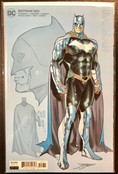 BATMAN #100 JORGE JIMENEZ 1:25 Ratio Variant Ghost-Maker Joker War