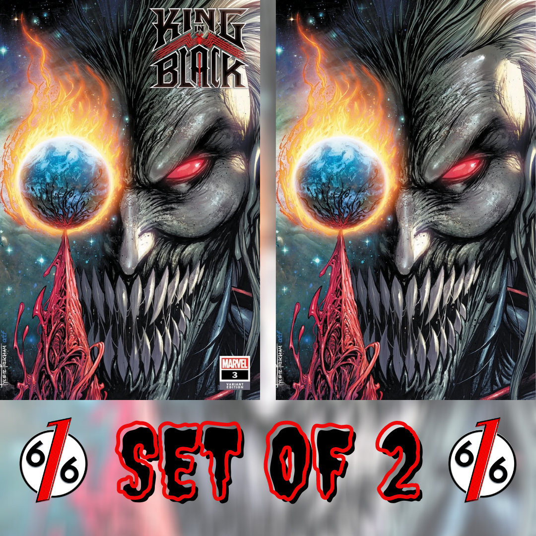 🚨🕸🔥 KING IN BLACK #3 SET OF 2 TYLER KIRKHAM Exclusive Trade & Virgin Variant