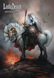 🔥💀 LADY DEATH HOMAGES ARTBOOK HC Brand New Unread Hardcover Coffin Comics