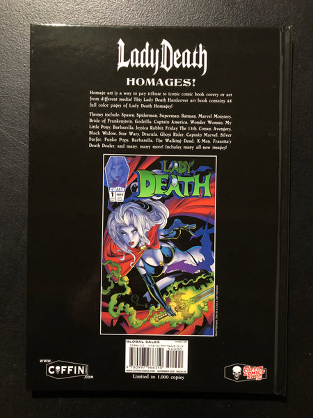 LADY DEATH HOMAGES ARTBOOK HC Brand New Unread Hardcover Coffin Comics