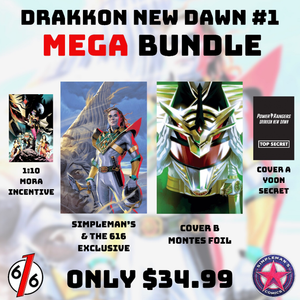 POWER RANGERS DRAKKON NEW DAWN #1 Mega Bundle of 4