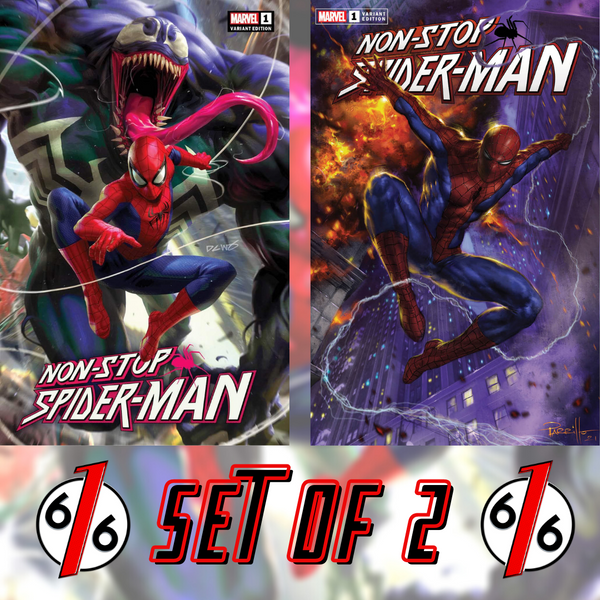 NON-STOP SPIDER-MAN #1 PARRILLO & CHEW Trade Dress Variant SET OF 2 616 Exclusives LTD 300