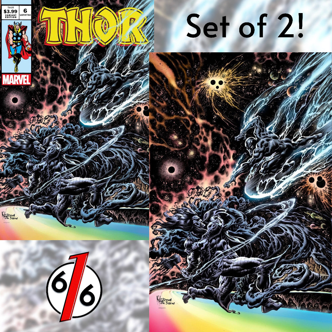 THOR #6 KYLE HOTZ Homage Set of 2 Exclusive Variants Black Winter