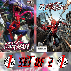 🔥🕷🕸 NON-STOP SPIDER-MAN #1 CHEW & FINCH Main Trade Dress Variant SET OF 2