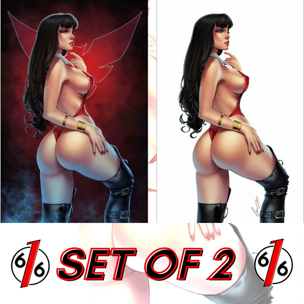🚨🦇🔥 VAMPIRELLA #13 VIRGIN VARIANT SET OF 2 Elias Chatzoudis LTD 500 NM Gemini