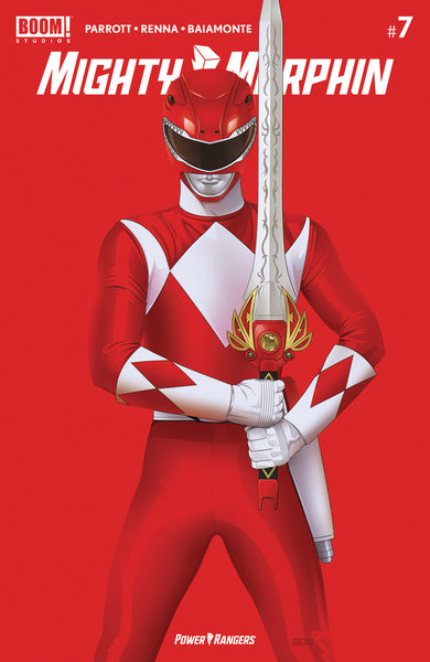 MIGHTY MORPHIN #7 BON BERNARDO Red Ranger Negative Space Variant LTD 500