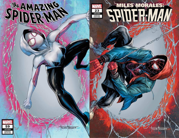 AMAZING SPIDER-MAN #59 & MILES MORALES #23 TYLER KIRKHAM Trade Dress Variant Set of 2