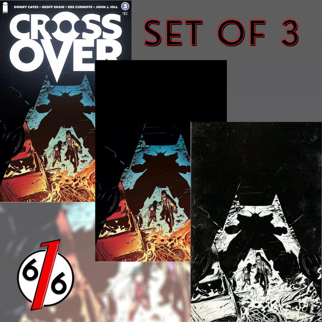 💥🚨 CROSSOVER #3 SET OF 3 Shaw Main Cover + 1:10 Virgin + 1:25 Raw Virgin NM