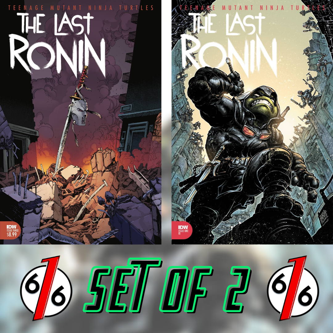 TMNT THE LAST RONIN #3 SET OF 2 Main Cover & Freddie Williams 1:10 Variant