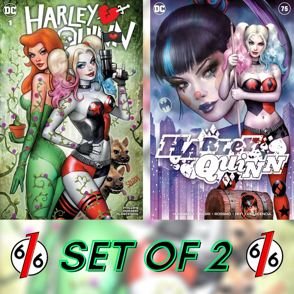 HARLEY QUINN #1 & #75 SZERDY SET OF 2 Trade Dress LTD 3000