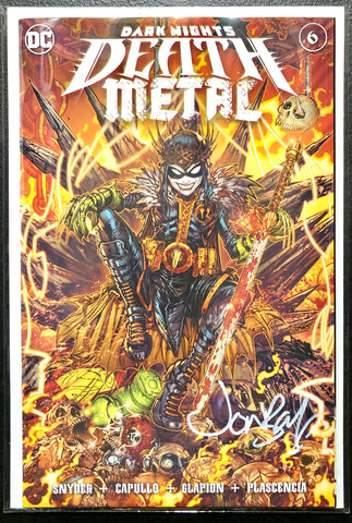 🚨💀🔥🖊 DARK NIGHTS DEATH METAL #6 JONBOY MEYERS SIGNED Trade Dress Variant COA