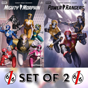 MIGHTY MORPHIN & POWER RANGERS #1 JUNGGEUN YOON SET OF 2 Trade Dress Variant Ltd 1000
