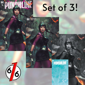 PUNCHLINE #1 EJIKURE SET OF 3 Variants Including Blank W/Burn Undercover