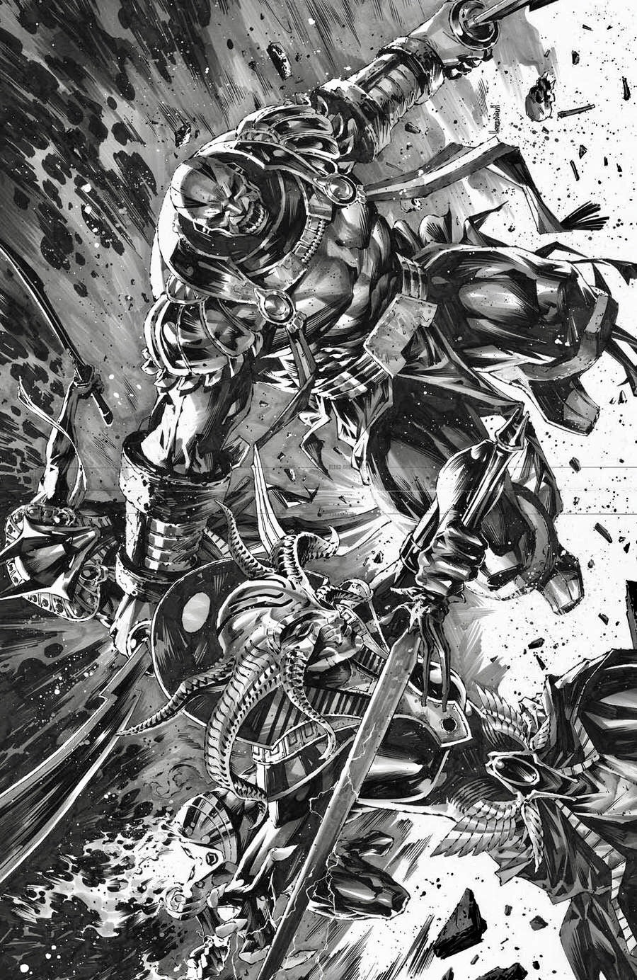 X-MEN #13 KAEL NGU B&W FULL VIRGIN Variant X Of Swords