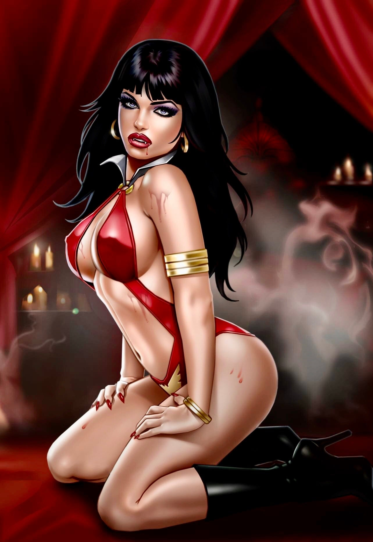 VAMPIRELLA #14 KEITH GARVEY Exclusive Virgin Variant Limited 500