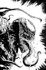 VENOM #28 VALERIO GIANGIORDANO Exclusive B&W Virgin Variant Ltd 1000