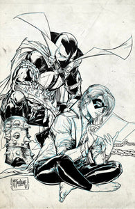 CROSSOVER #3 Cover G 1:100 Todd McFarlane Spawn Raw Variant