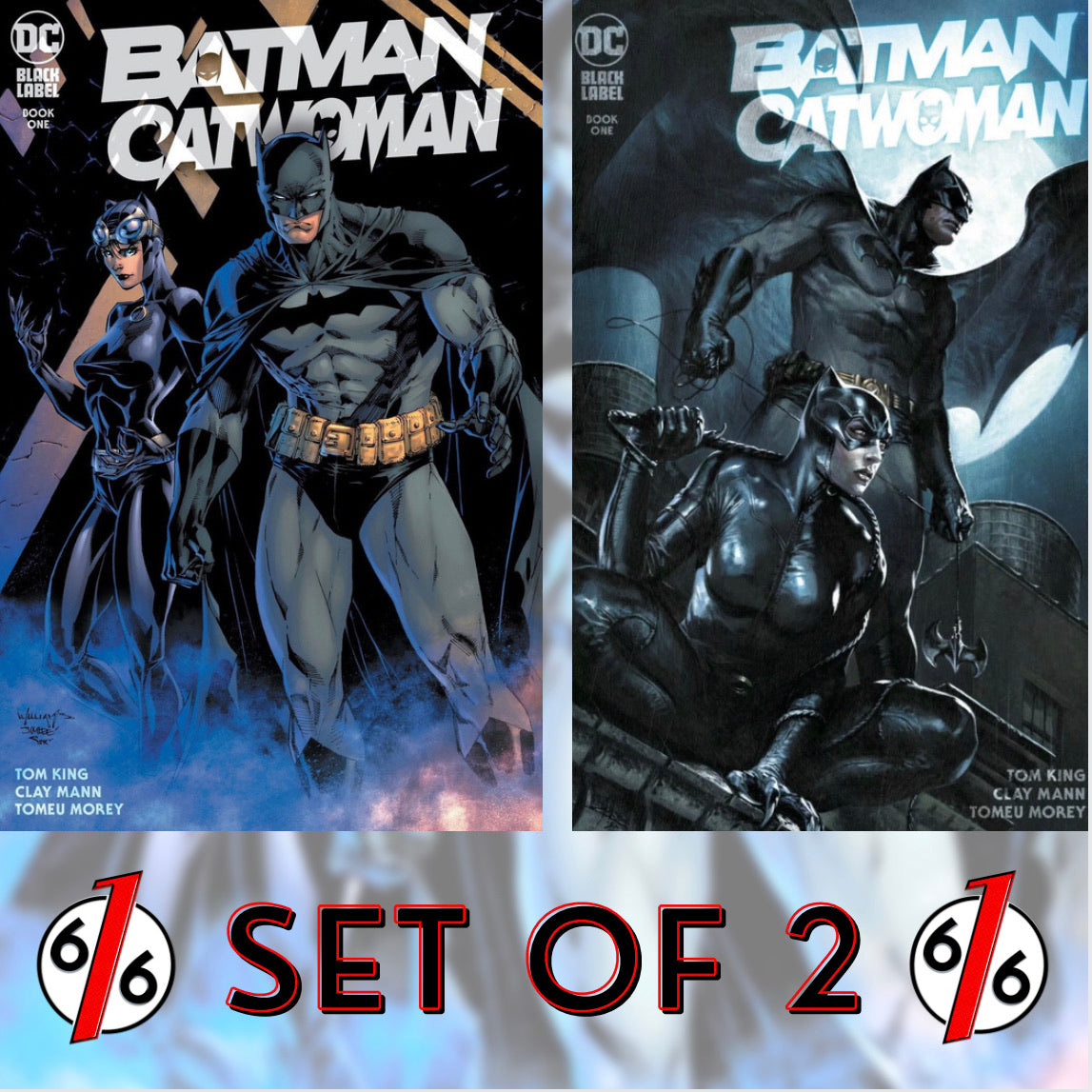 🚨🦇🔥 BATMAN CATWOMAN #1 SET OF 2 Variants Williams & Lee + Dell'Otto LTD 3000