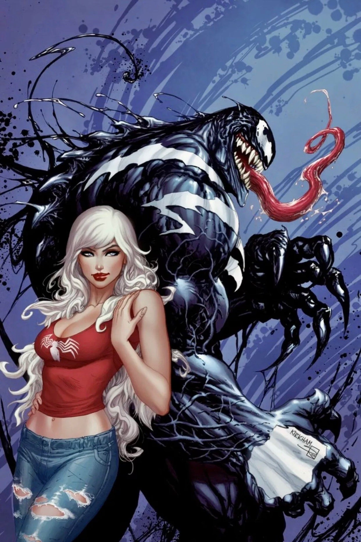 VENOM INC OMEGA #1 TYLER KIRKHAM Cover C Exclusive Virgin Cover
