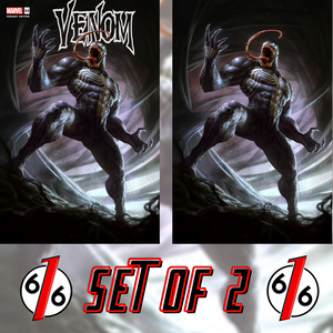 🚨🔥🕸 VENOM #34 DAVE RAPOZA Variant Set of 2 Trade & Virgin King in Black Knull