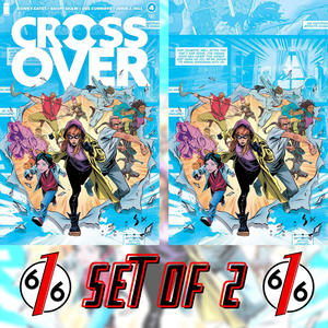💥🚨 CROSSOVER #4 SET OF 2 GEOFF SHAW Main Cover A & Virgin 1:10 Ratio Variant