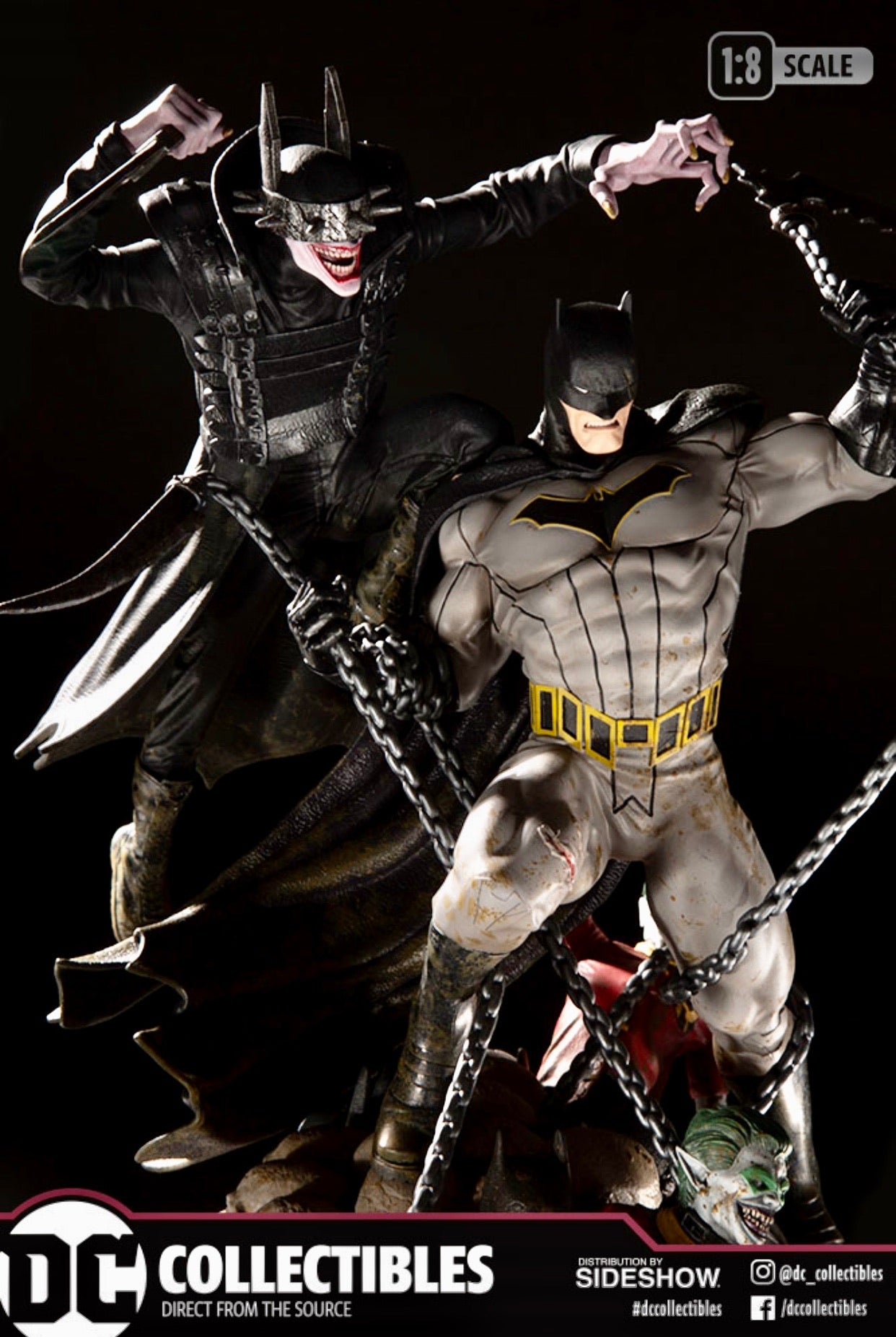 BATMAN WHO LAUGHS VS BATMAN BATTLE 1:8 Scale Statue Ltd 5000