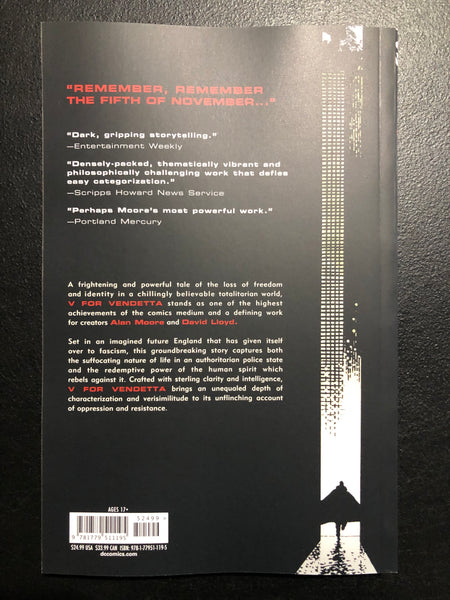 V FOR VENDETTA BLACK LABEL EDITION TPB DC Brand New 12/15/2020 Release