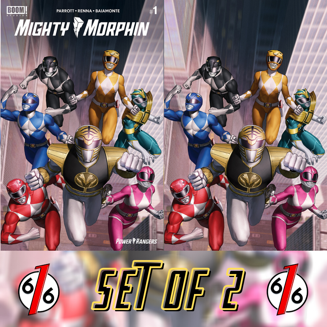 MIGHTY MORPHIN #1 JUNGGEUN YOON Exclusive Variant SET OF 2 Ltd 500
