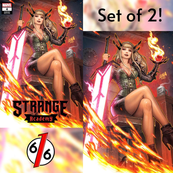 STRANGE ACADEMY #4 DAVID NAKAYAMA SET OF 2 Exclusive Variants NM