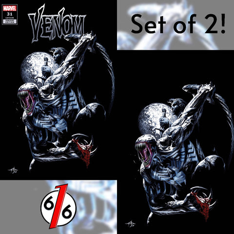 VENOM #31 SET OF 2 GABRIELE DELL'OTTO Exclusive Variants King In Black