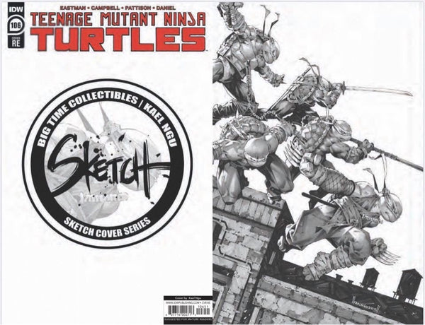TMNT #106 BTC KAEL NGU Sketch Cover Series #1 Ltd 300 COA