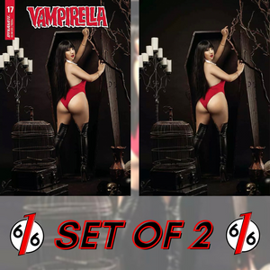 🚨🦇🔥 VAMPIRELLA #17 RAMIREZ COSPLAY Variant Set Of 2 Cover E & 1:25 Virgin NM