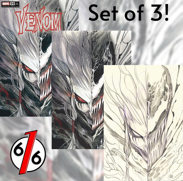 🚨🔥🕸 VENOM #30 PEACH MOMOKO SET OF 3 Trade Dress + Virgin + Sketch Variant NM