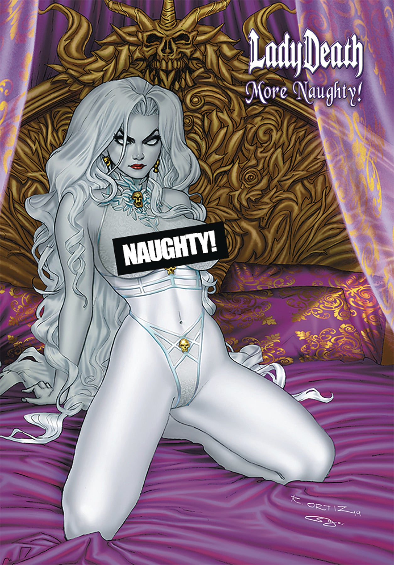LADY DEATH MORE NAUGHTY ARTBOOK HC Richard Ortiz Cover Art
