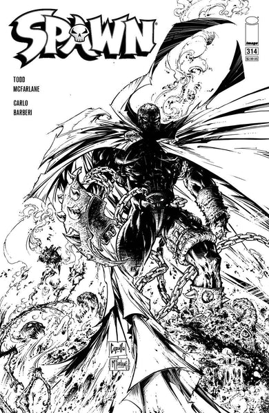 SPAWN #314 SET OF 2 Cvr B Capullo McFarlane & B&W Sketch 1:5 Variant