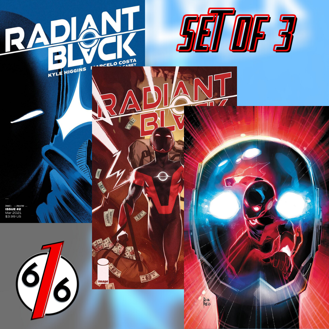 🚨🔥⚫️ RADIANT BLACK #2 SET OF 3 Cvr A Costa & B Greco & 1:25 Variant 1st App