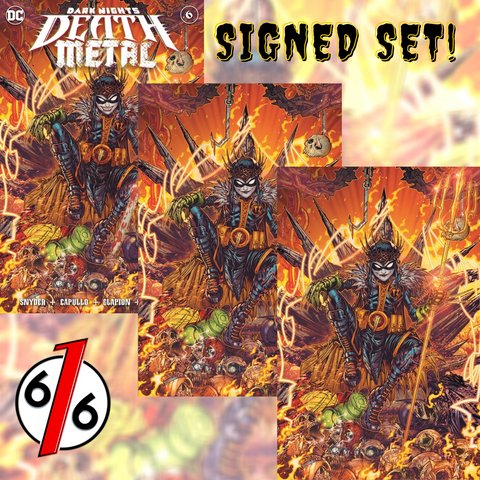 🚨💀🔥 🖊 DARK NIGHTS DEATH METAL #6 JONBOY MEYERS SIGNED SET OF 3 Variants COA