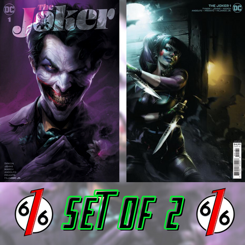 🔥🤡 JOKER #1 FRANCESCO MATTINA Variant SET OF 2 616 Exclusive & Cvr C Punchline