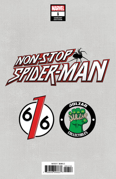 NON-STOP SPIDER-MAN #1 PARRILLO & CHEW Trade Dress Variant SET OF 2 616 Exclusives LTD 3000