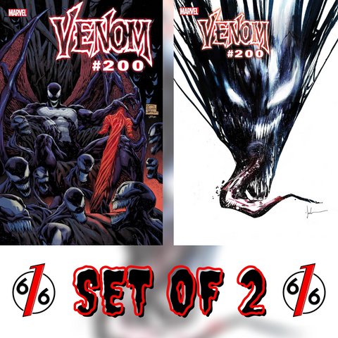 VENOM #35 200th Issue SET OF 2 Main Stegman Cover & Jock Variant
