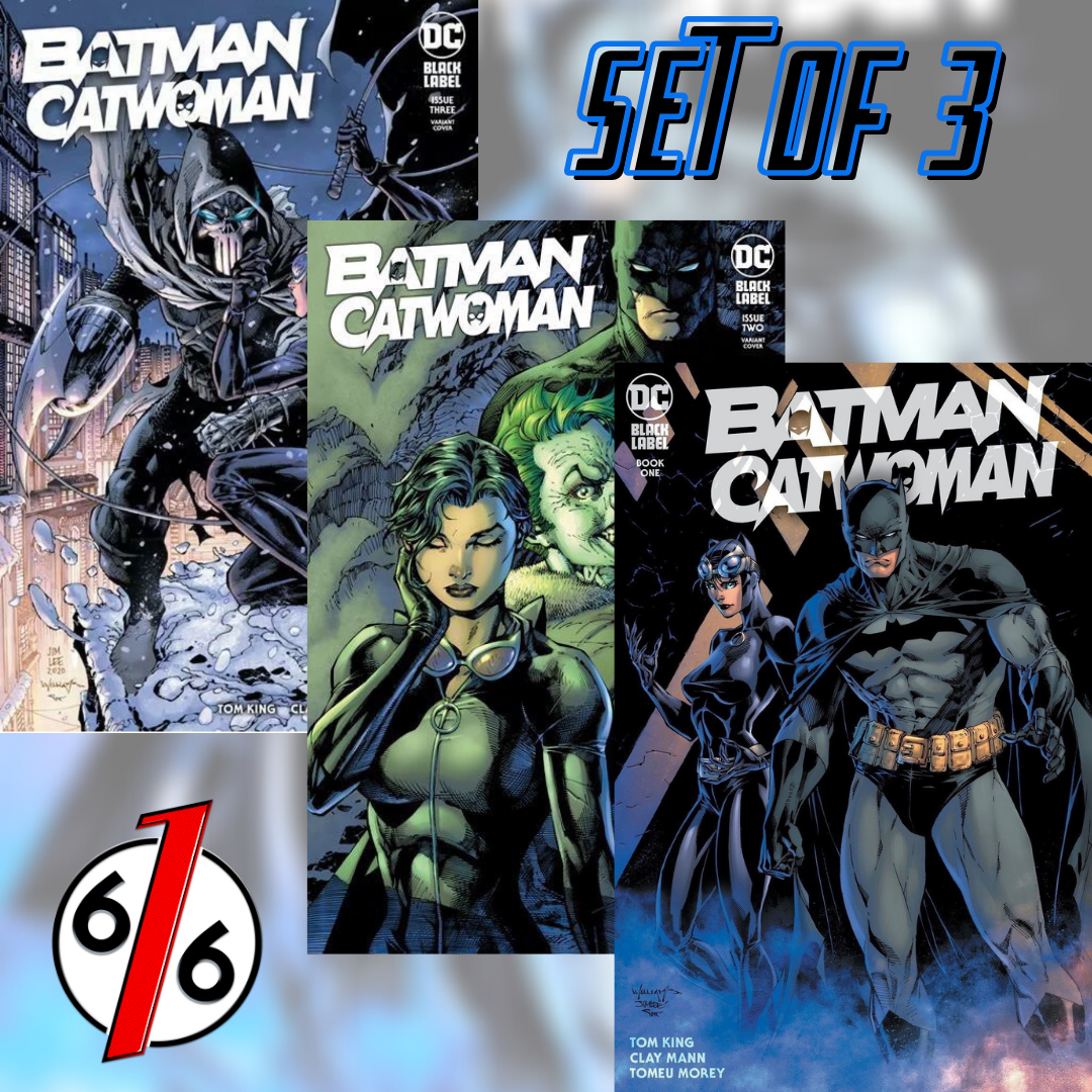 🚨🦇🔥 BATMAN CATWOMAN #1 - 3 JIM LEE & WILLIAMS SET OF 3 LTD 3000 NM Gemini