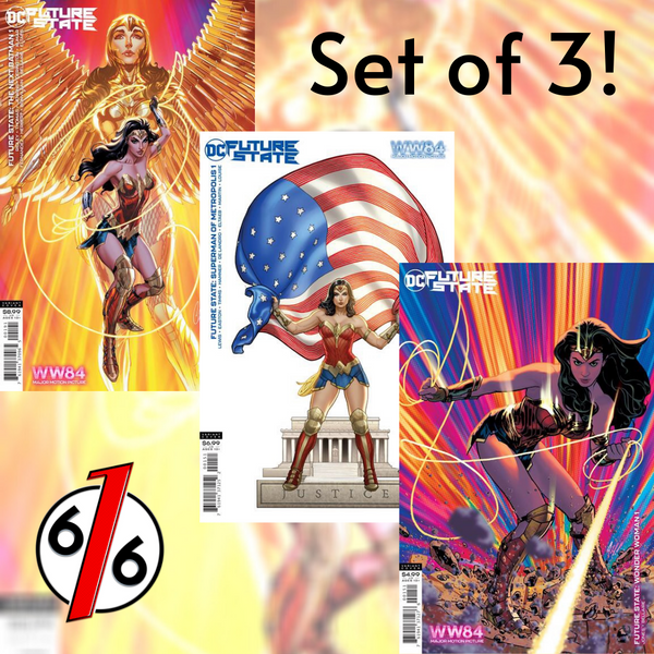 🚨🔥 WONDER WOMAN 1984 VARIANT SET OF 3 Campbell + Frank Cho + Adam Hughes NM