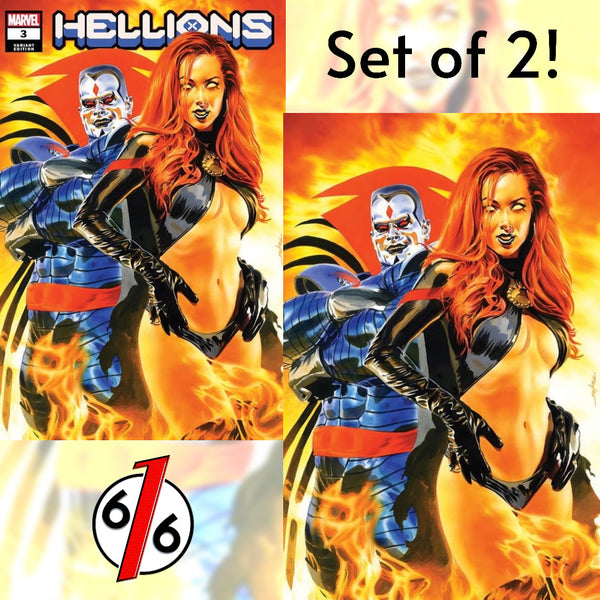 HELLIONS #3 MIKE MAYHEW SET OF 2 Trade & Virgin Variant Goblin Queen