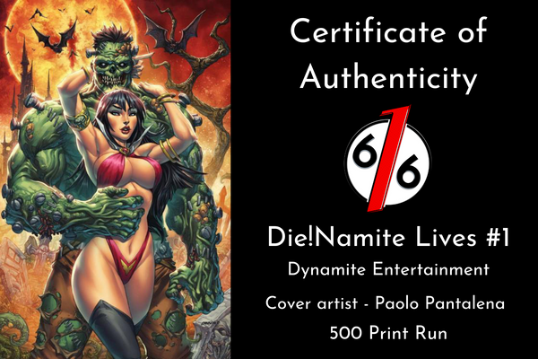 DIENAMITE LIVES #1 PAOLO PANTALENA 616 Exclusive Day Variant LTD 500 COA