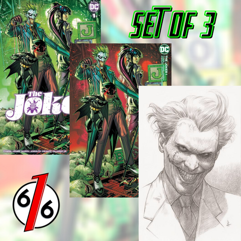 JOKER #1 JONBOY MEYERS VARIANT SET OF 3 Trade & Minimal & 1:25 Federici